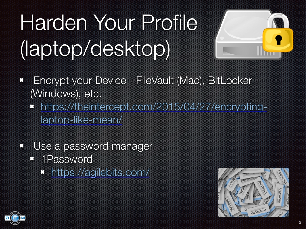 Harden Your Profile (laptop/desktop)