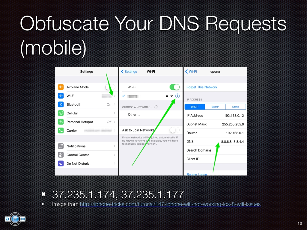 Obfuscate Your DNS Requests (mobile)