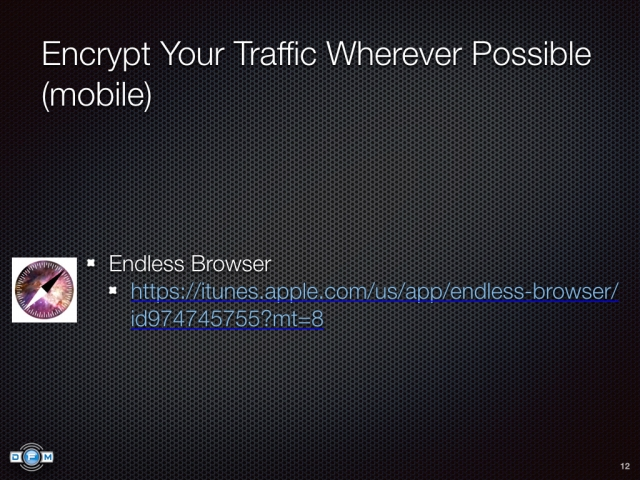 Encrypt Your Traffic Wherever Possible (mobile) - Endless Browser