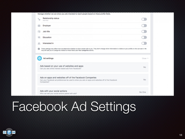Facebook Ad Settings