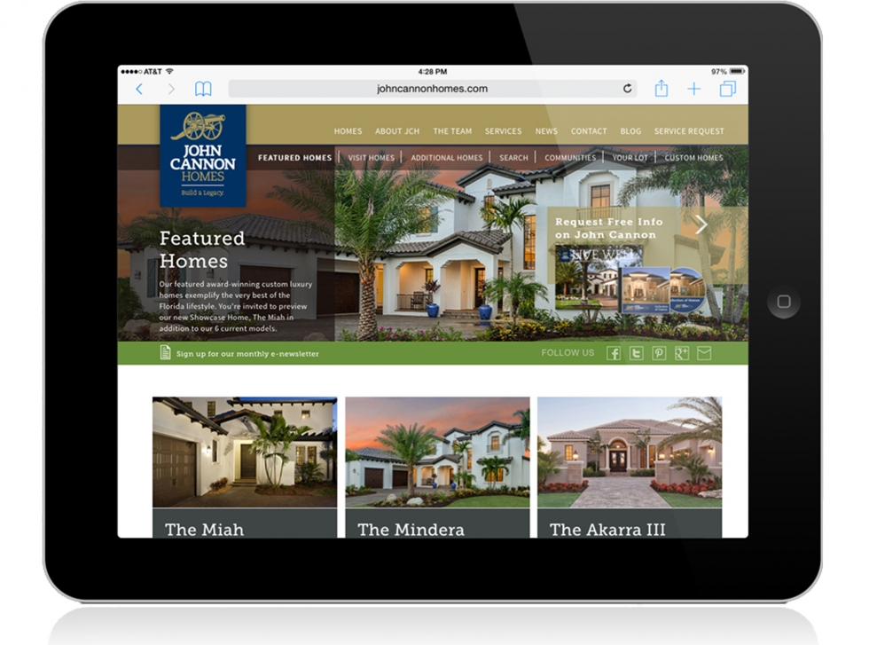 john cannon homes responsive website homes
