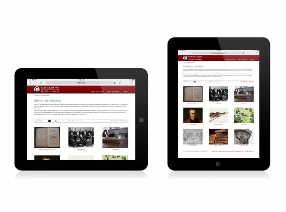 Patrick Henry Digital Library grid view